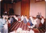 Prof Ghulam Azam addressing dignitaries at Sonargaon Hotel